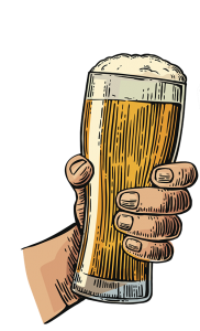 light beer hand - BBQ and Beer Pairings